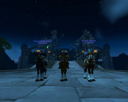 Click to view full size image  ==============  Defending the Gates of Stormwind ...or waiting for a bus. You decide... :D