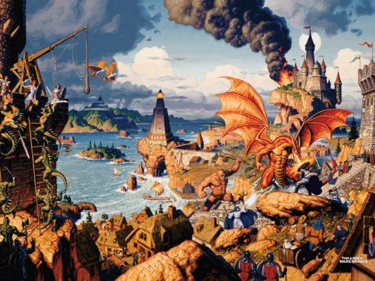 Click to view full size image  ==============  Ultima Online - Cover  I came across this little picture, man this brings back memories! I always found this picture really awesome for some reason.